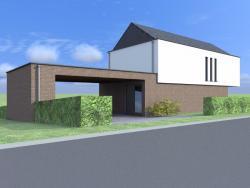 Construction d'une maison unifamiliale en CLT à NEUVILLE.