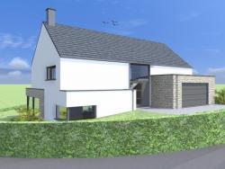 Construction d'une maison unifamiliale à NINANE.