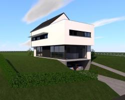 Construction d'une maison unifamiliale en CLT à GESVES.