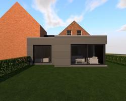 Extension en CLT d'une maison unifamiliale à OREYE.