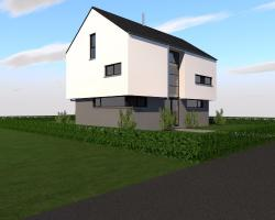 Construction d'une maison avec rez-de-chaussée commercial en CLT à ETALLE.