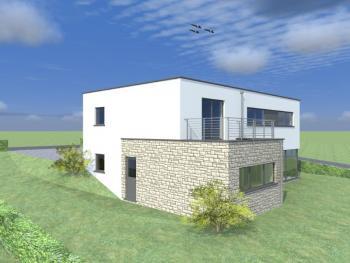 Construction d'une maison unifamiliale en structure bois à NINANE.