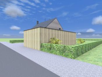 Construction d'une maison unifamiliale en briques  à BASTOGNE