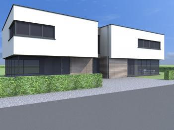 Construction de bureaux avec rez-de-chaussée commerciale à JODOIGNE.