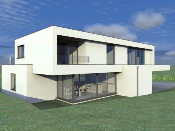 Construction d'une maison unifamiliale en CLT à BIEGES.