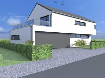 Construction d'une maison unifamiliale en CLT à MESSANCY.