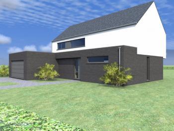Construction d'une maison unifamiliale en CLT à VERLAINE.