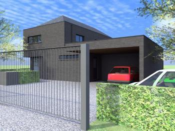 Construction d'une maison unifamiliale quatre façades en CLT à NEUVILLE.