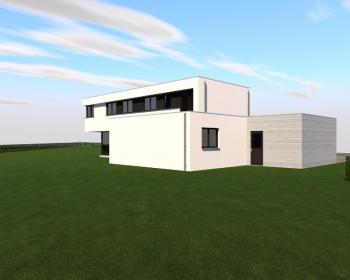 Construction d'une maison unifamiliale en CLT à LIBRAMONT