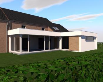 Extension en CLT d'une maison unifamiliale à CHERATTE.