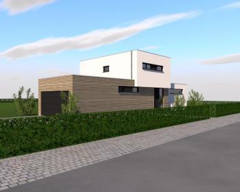 Construction d'une maison unifamiliale en CLT à VILLERS-LE-BOUILLET.