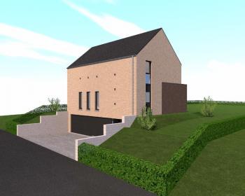 Construction d'une maison unifamiliale en CLT à FERNELMONT.